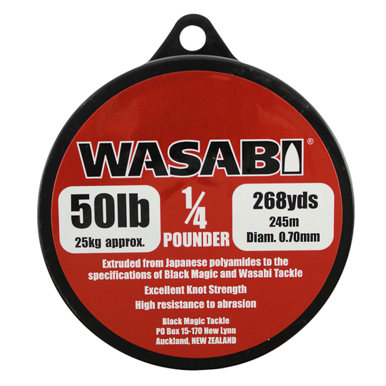 WASABI MONO LINE – 1/4 POUNDER SPOOLS