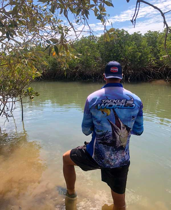 fishing in creeks around mangroves for mangrove jacks ben svenson